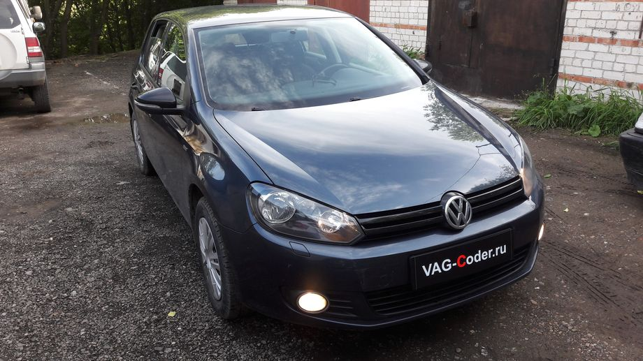 VW Golf VI-1,4TSI(CAXA)-МКП6-2013м/г - активация и кодирование скрытых функций от VAG-Coder.ru