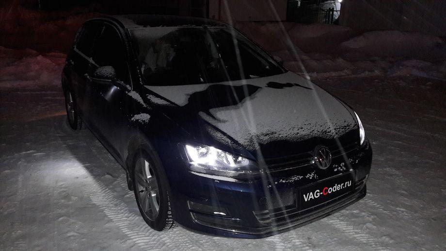 VW Golf7-1,4TSI(CHPA)-DSG7-2014м/г - активация и кодирование скрытых функций, обновлению прошивки блока управления двигателя, блока управления автоматической коробкой передач DSG7, блока управления штатной магнитолы Discover Pro, обновлению базы навигационных карт и точек POI магнитолы от VAG-Coder.ru