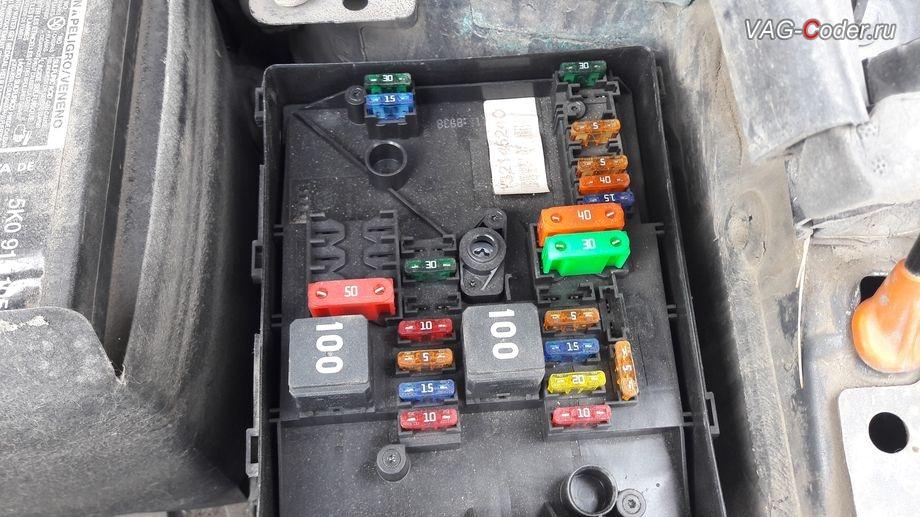 VW Golf Plus-2011м/г - ремонт подкапотного блока предохранителей (E-Box) от VAG-Coder.ru