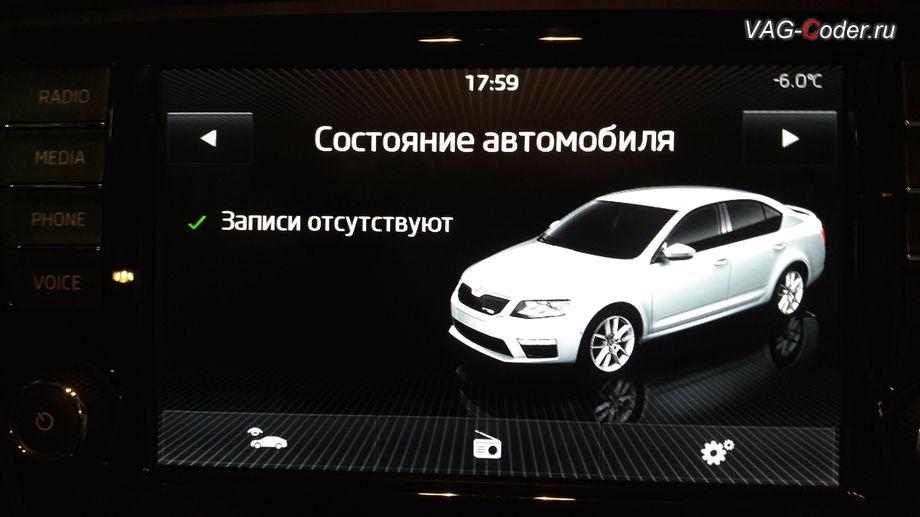 Skoda Oсtavia A7-2014м/г - модификация вида отображения картинки автомобиля в штатной магнитоле от VAG-Coder.ru