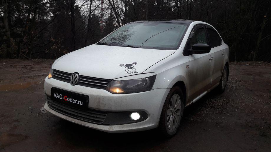 VW Polo-1,6MPI(CFNA)-МКП5-2014м/г - замена красной панели приборов на белую от VAG-Coder.ru